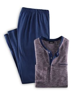 Schlafanzug Ultraleicht u. Easycare bordeaux Detail 1