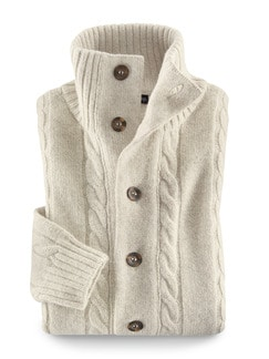 Clark Ross Strickjacke Royal-Alpaka Natur Detail 1