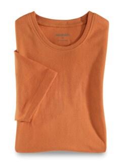 T-Shirt Rundhalsausschnitt Mandarine Detail 1