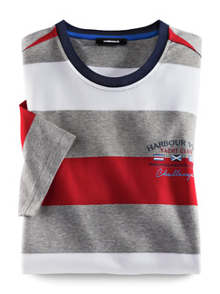 Streifen-Shirt Harbour View Navy/Weiß/Rot Detail 1