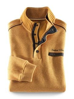 Wohlfühl-Pullover Softrib Safran Detail 1