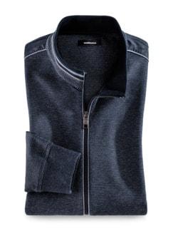 Komfort-Jacke Farbeffekt Marine Detail 1