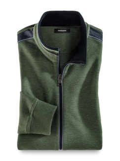 Komfort-Jacke Farbeffekt Grün Detail 1