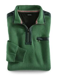 Wohlfühl-Pullover Bedford Grün Detail 1