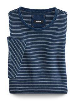 Streifenshirt Indigo Blau/Weiß Detail 1