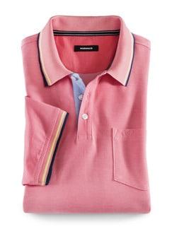 Extraglatt-Polo Sommersorbet Pink Detail 1