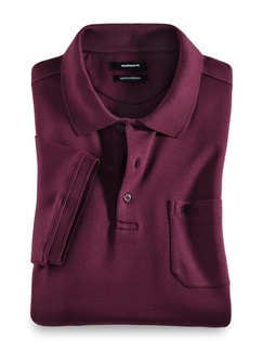 Premium SUPIMA-Polo Bordeaux Detail 1