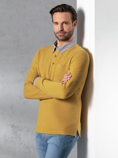 Hemd-Pullover 2 in 1 Safran Detail 2