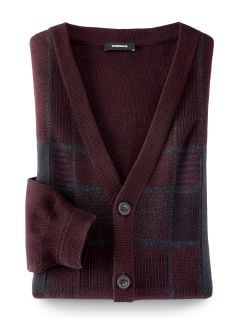 Cardigan Alcantara- Patch Bordeaux Detail 1