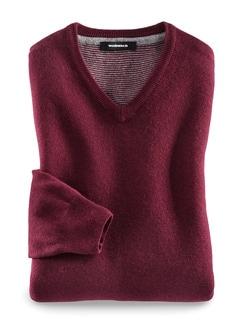 Soft-Pullover Ultrafein Barolo Detail 1
