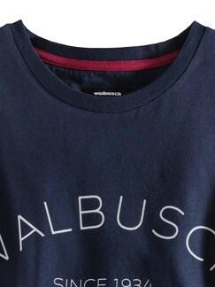 Rundhals Shirt Walbusch Edition Navy Detail 3