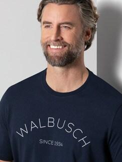 Rundhals Shirt Walbusch Edition Navy Detail 4