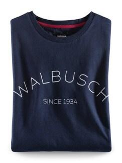 Rundhals Shirt Walbusch Edition Navy Detail 1
