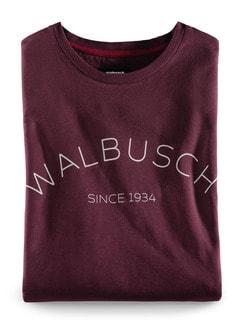 Rundhals Shirt Walbusch Edition Burgund Detail 1