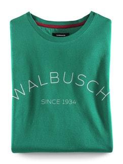 Rundhals Shirt Walbusch Edition Smaragd Detail 1
