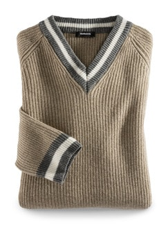 Cricket-Pullover Cashmere-Mix Beige Detail 1