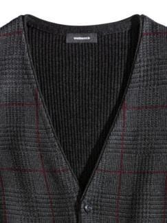 Karo-Strickweste Gentleman Anthr./Bordeaux Detail 3
