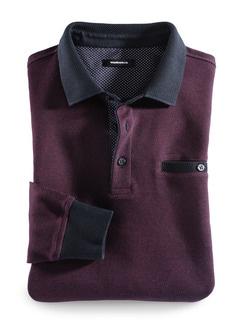 Polo-Pullover Farbeffekt Bordeaux Detail 1