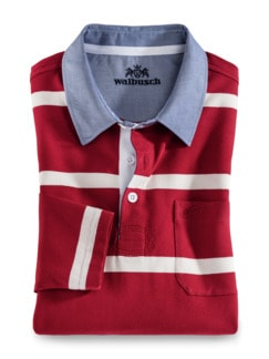 Streifen-Shirt Supersoft Rot gestreift Detail 1