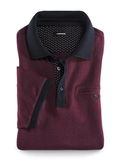 Premium-Polo Gentleman Bordeaux Detail 1