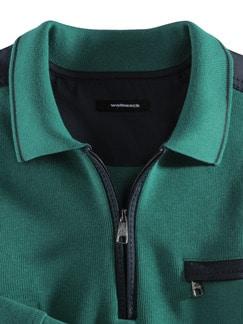 Extraglatt-Polo-Pullover 2.0 Lagune Detail 3