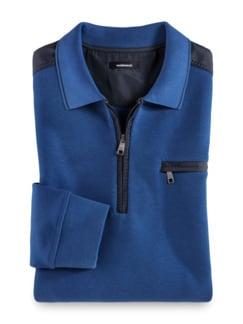 Extraglatt-Polo-Pullover 2.0 Königsblau Detail 1