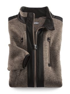 Klepper Strickfleece-Jacke Sand Detail 1