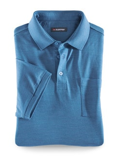 Klepper Merino-Polo Blau Detail 1