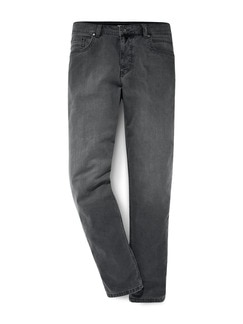 Thermo Comfortjeans Normalform Grau Detail 1