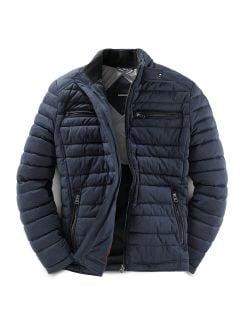 High Flex Thermo Jacke Blaumelange Detail 1