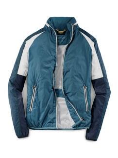 Track-Jacket Mittelblau Detail 1