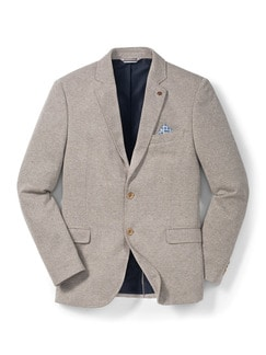 Jersey Bequem-Sakko Beige Detail 1