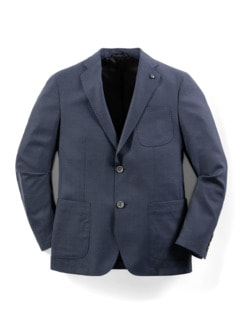 Sneaker-Anzug-Sakko Dunkelblau Detail 1