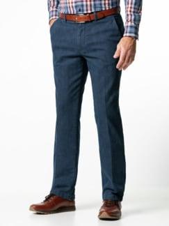 Jogger-Jeans Chino Glencheck Marine Detail 2