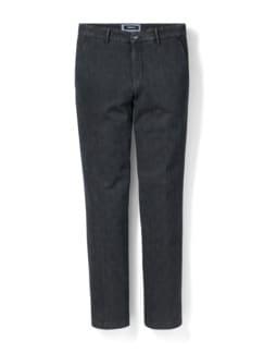 Jogger-Jeans Chino Glencheck Grau Detail 1