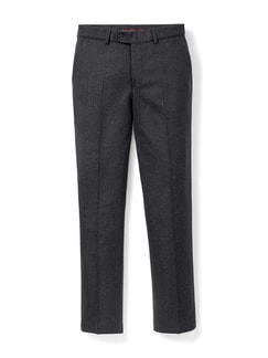 Easycare Wollflanell Hose Anthrazit Detail 1
