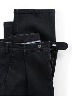 Extraglatt Flex-Bundfaltenjeans Black Detail 4