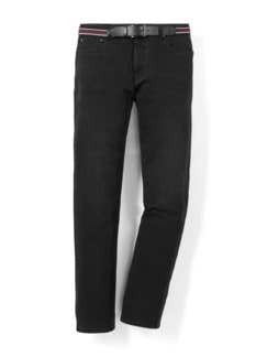 Gürtel-Jeans Modern Fit Black Detail 1
