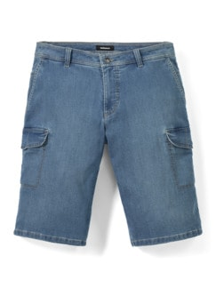 Cargo Jeans Bermudas Bleached Detail 1