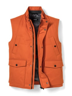 Thermore Outdoor-Weste Orange Detail 1