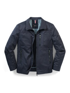 Cotton Light Blouson Marine Detail 1