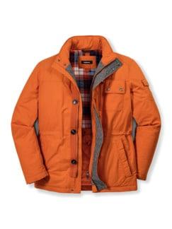 Baumwoll- Thermojacke Orange Detail 1
