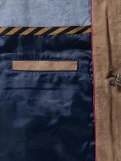 Veloursleder-Jacke Sand Detail 4