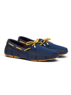 Swims Mokassin Navy/Gelb Detail 1