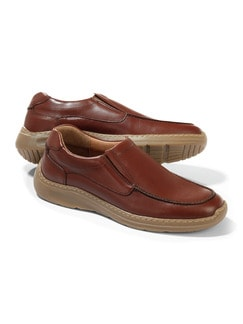 Komfort-Slipper Cognac Detail 1