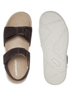 Klett-Sandale Braun Detail 2