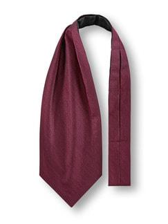 Krawattenschal Tweedoptik Bordeaux Detail 1