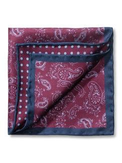 Seideneinstecktuch Paisley Minimal Detail 1