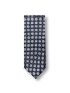 Seidenkrawatte Farbpunkt Beige/Blau Detail 1