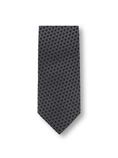 Ton-in-Ton Minimal-Krawatte Grau/Schwarz Detail 1